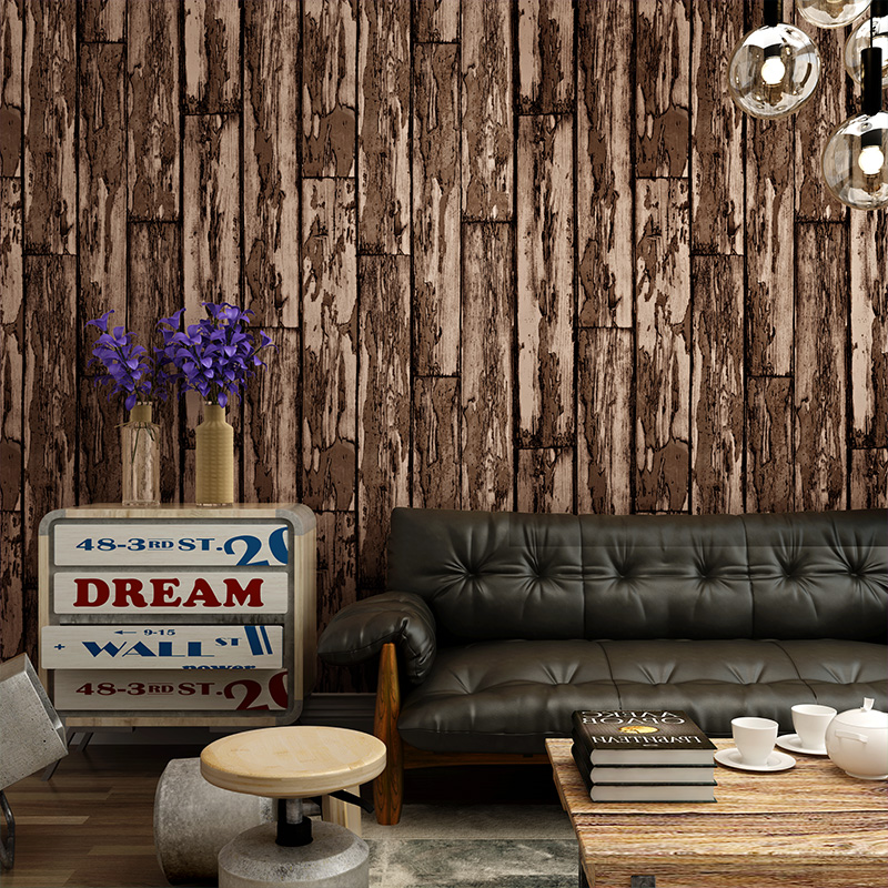 ФОТО 3D 0.53*5M wallpaper for walls Color wood striped Mediterranean style living room study bar cafe wallpaper papel de parede