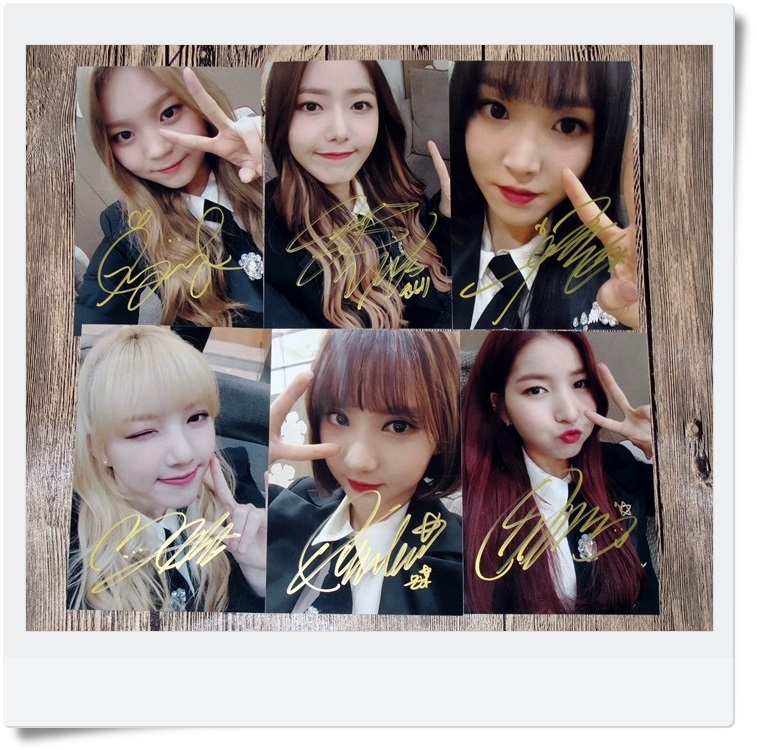 цены signed GFRIEND autographed  original photo 6 inches 6 photos set freeshipping 062017 C version