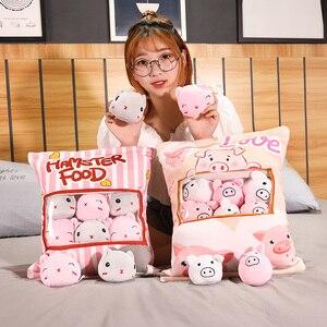 Image 4 - סוגים שונים שקית של Sumikko Gurashi & אוגר & חזיר וארנב ברווז וחתולים & לווייתן בפלאש כרית רך קריקטורה בעלי החיים בובת ילדים מתנות