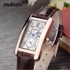Relojes de moda para mujer, reloj de lujo, reloj de cuero genuino con fecha de marcas de primera fecha, relojes de moda 2018