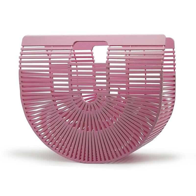 Bambus Geldbörse Luxus-handtaschenfrauen-designer Holz Frauen Kupplung Sommer Strand Taschen Für Frauen Gewebten Auszuhöhlen Bambus Handtasche