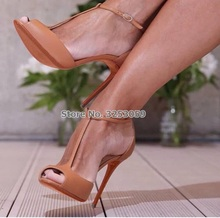 ALMUDENA Women Nude Wine Red Glossy T-strap Pumps Thin High Heels Open Toe Sandals Burgundy Nice Gladiator T-bar Shoes Dropship