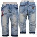6132 pantalones vaqueros del bebé pantalones niños chicos chicas casual de primavera y otoño de la manera nueva ropa del niño de luz azul fresco