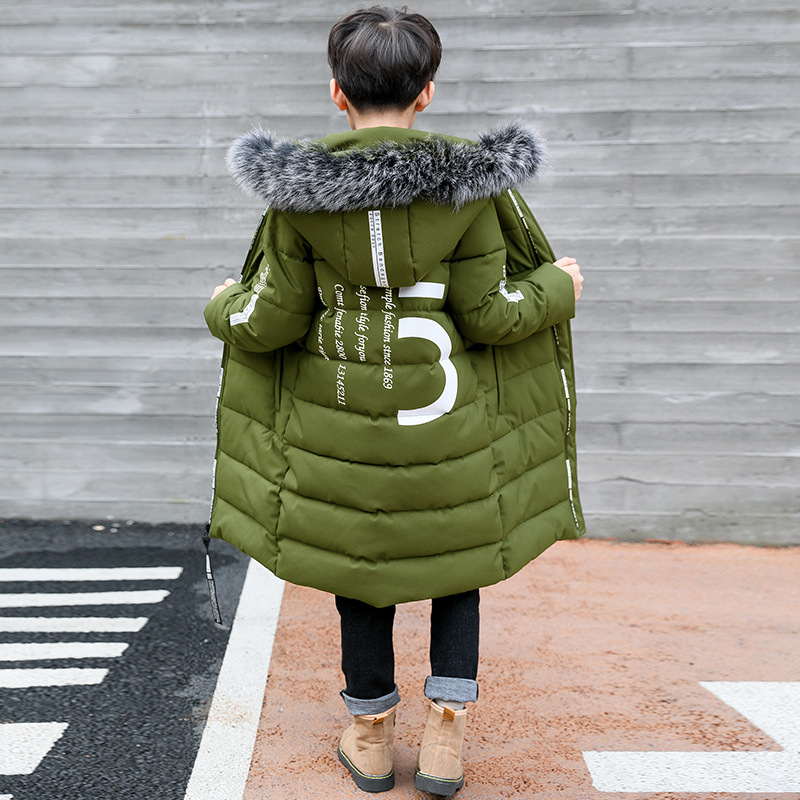 Image 3 - Winter Thicken Windproof Warm Kids Coat Waterproof Children Outerwear Kids Clothes Boys Jackets For 3 12 Years Old-in Jackets & Coats from Mother & Kids
