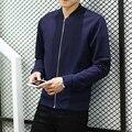 Новый 2016 Модный Бренд Куртки Мужчины Тенденция Бейсбол Воротник Куртки пальто Мужчины Корейской Дизайн Мужская Одежда Slim Fit Мужчины Повседневная куртки