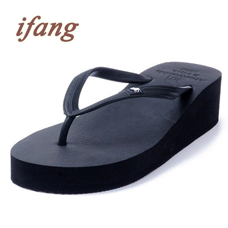 ifang 2016 Women Top Brand Wedges Flip Flops font b Women s b font Sandals Summer