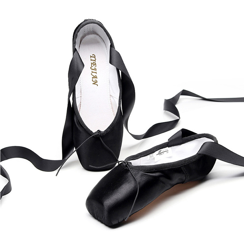 Point Shoes Dance Ballet Supper Satin Upper Hard Leather Sole Professional Pointe Shoes Shose WomenPoint Shoes Dance Ballet Supper Satin Upper Hard Leather Sole Professional Pointe Shoes Shose Women