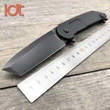 Ldt bf2rct faca dobrável n690, lâmina de alumínio com cabo extrema, facas militares, para acampamento, caça, sobrevivência, ferramenta edc