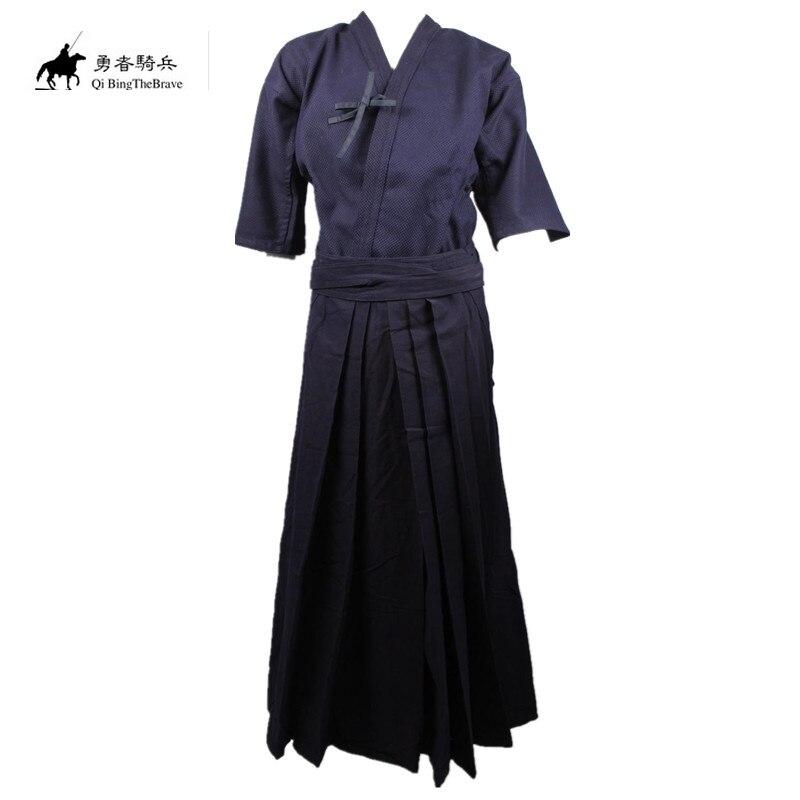 2019 New Japanese Samurai Style Baggy Hakama Pants Kimono Kendo Uniforms Trousers Kendo Iaido Aikido Hapkido Hakama 70701