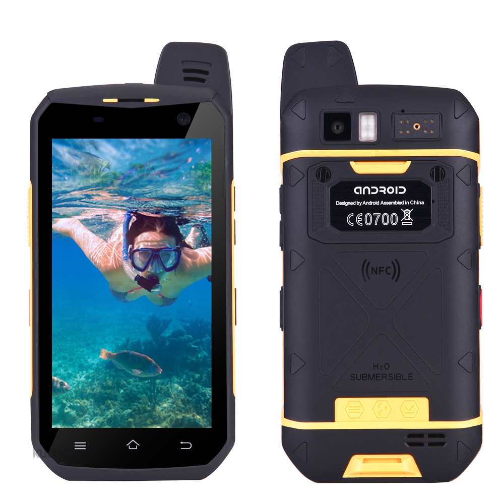 2017 China original B6000 Android 6 0 ip68 Waterproof Phone Rugged Smartphone MTK6755 Octa Core 4G