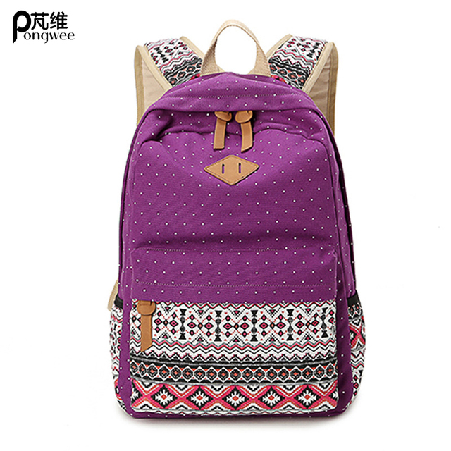 Aliexpress.com : Buy PONGWEE Printing School Backpack Rucksack ...