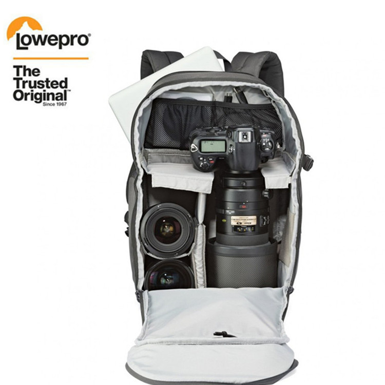 FREE SHIPPING NEW Genuine Lowepro Transit Backpack 350 AW SLR Camera Bag Backpack Shoulders With All Weather Cover Wholesale-in Camera/Video Bags from Consumer Electronics    1