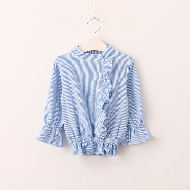 9ecda8dde Baby Girls Autumn Spring Striped Clothes Full Sleeve Kids Flower ...