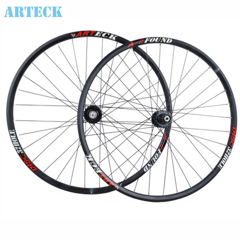 ARTECK 29-inch mountain bike disc brakes 27.5 650B Peilin Bearing wheel bicycle wheel hub 2 color tropix wheel bicycle wheel 26 9 10 11 speed joyce hub flower drums mountain wheel 32h 26 inch bicycle wheelset