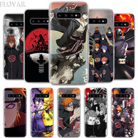 Anime Naruto Akatsuki Phone Case for Samsung Galaxy S10e S10 S20+ S20 Ultra S7 S8 S9 Plus Note 8 9 10 Plus 5G Hard Case Coque