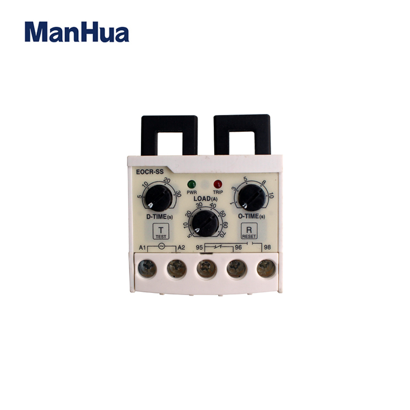 ManHua EOCR-SS 5-60A Electronic Overload Relay Phase Loss Protection Independently Adjustable Starting Relay korea three and eocr motor protector eocr 3dm ac220