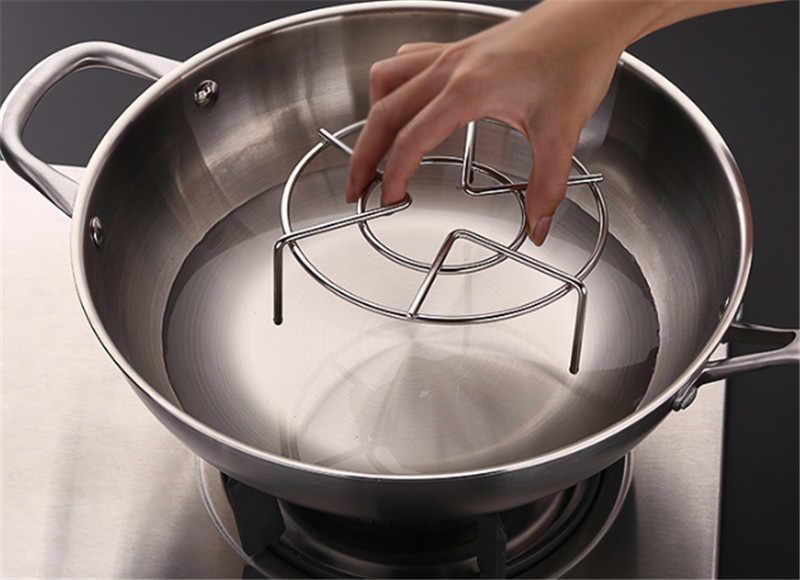 Naczynie do gotowania na parze ze stali nierdzewnej Rack wielofunkcyjny tacy parowej garnek do gotowania bulionu do gotowania na parze tacy stoisko naczynia kuchenne do gotowania ryżu do gotowania na parze