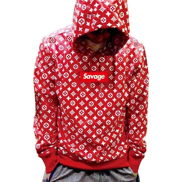 2017 100% Bawełna 21 Savage Street Wear Suprem Bluzy Parody Nie serce X Savage Strach Boga Kapturem Bluza Mężczyzna Kobiet Hip-Hop
