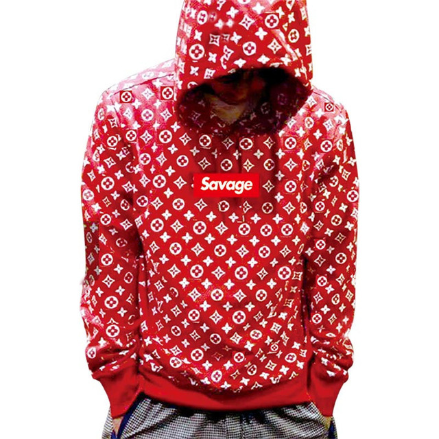 2017 100% Cotton 21 Savage Street Wear Suprem Hoodies Parody No Heart X Savage Fear Of God Hoodie Sweatshirt Men Women Hip Hop