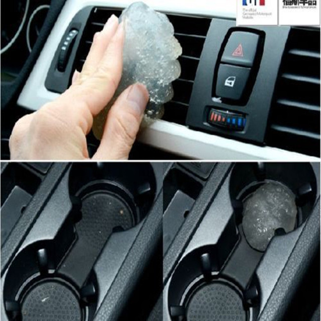 BBQFUKA Car Air Outlet Vent Dashboard Interior Trim Panels Dust Remove Cleaner Glue Gel