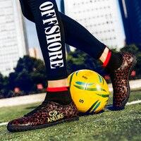 Botas de futebol Homens Blue Black Mens Indoor Soccer Shoes Esporte de Alta Top Botas Anti Slip Botas De Futebol de Treinamento de Futebol para Os Homens|Sapatos de futebol|   -