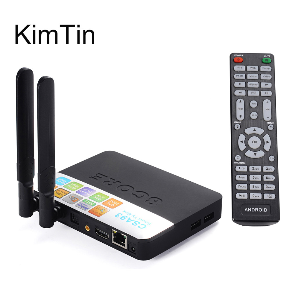 KimTin A93 Smart Android 6.0.1 TV Box Amlogic S912 VP9 H.265 UHD 4K 2GB / 16GB Mini PC WiFi & LAN DLNA Miracast HD Media Player