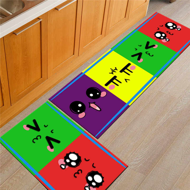 2pcs/set 3D Grass Super Soft Floor Mats Anti-skid in Water Uptake Oil Absorption Carpet Long Kitchen Are Rugs Door Bathroom Mat