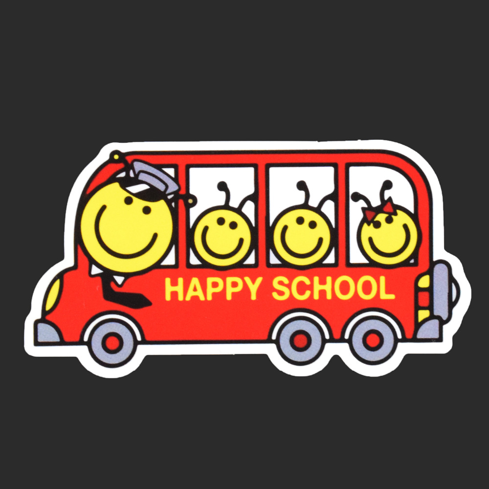 Cartoon Happy School Fashion Tied Brand Single Sticker Car Styling Waterproof Stickers Luggage Fridage Skateboard Decals