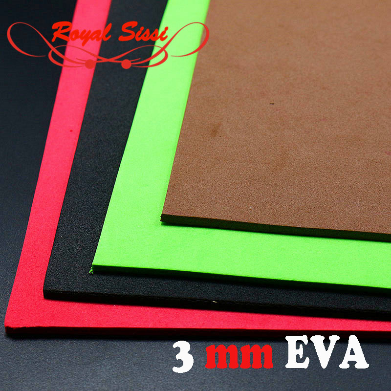 12 optional colors 3mm thick EVA Foam Sheet Fly Tying Foam Square Paper 5pcs/bag floating Buggy Cricket body Fly Tying Material