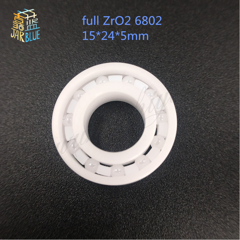 1pcs full ZrO2 6802 ceramic Radial Ball Bearings 15*24*5mm full ceramic ball bearing zro2 15268 ceramic wheel hub bearing zro2 15268 15 26 8mm full zro2 ceramic bearing