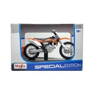 Image 5 - Maisto 1:18 KTM 450 SXF รถจักรยานยนต์รถจักรยานยนต์อัลลอยมอเตอร์จักรยาน Miniature Race ของเล่นสำหรับของขวัญคอลเลกชัน