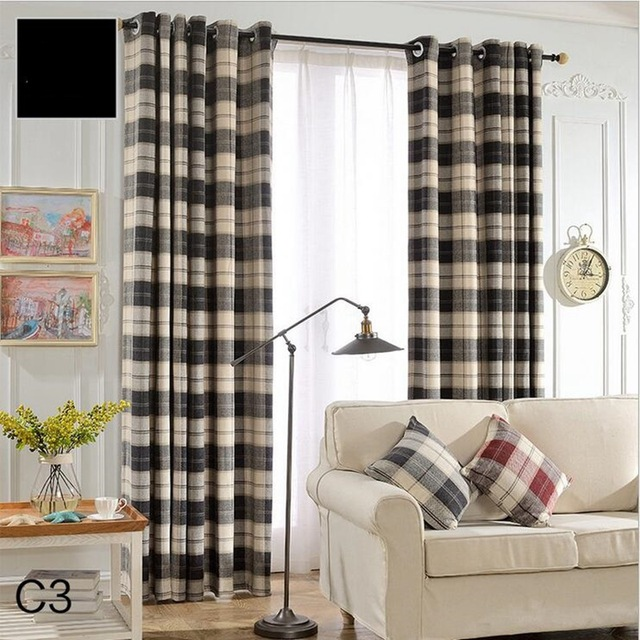 Blackout Curtains Kitchen Door Drapes Drops Textile Window Curtain Living  Room Roman Blinds Ready Made Fabrics