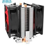 Pccooler Double Fan CPU Cooler Fan Pure Cooper 2 Heatpipe Silent Cooling Radiator Fan For LGA1151