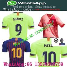 275be403161 2018NEW Barcelonaes jersey 18 19 Home away from football soccer t-shirts  MESSI shirt Champions League patch Soccer jersey