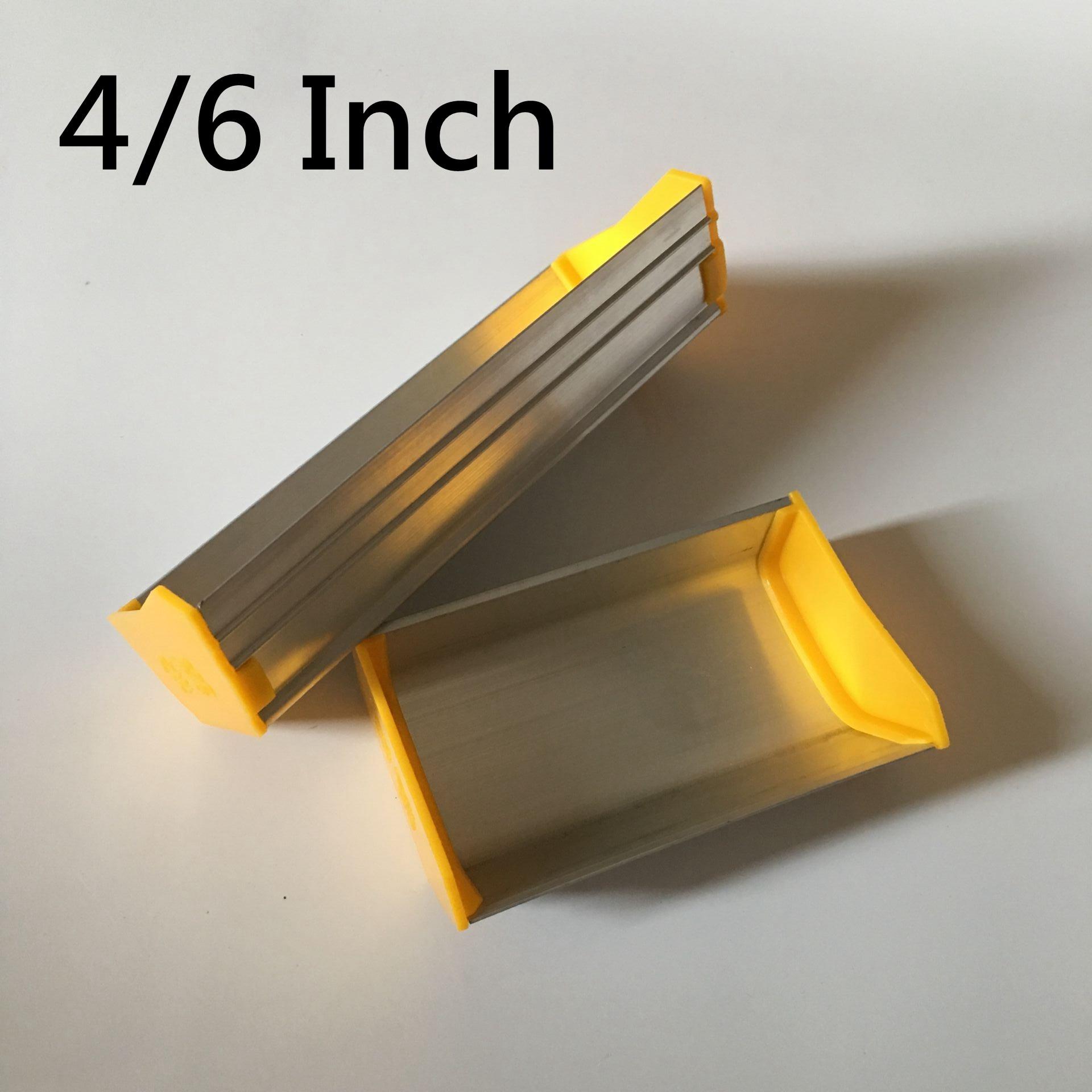 4/6 Inch Screen Printing Aluminum Alloy Emulsion Scoop Coater 11/16CM Silk Screen Printing Sizing Scrape Coating Press Tools