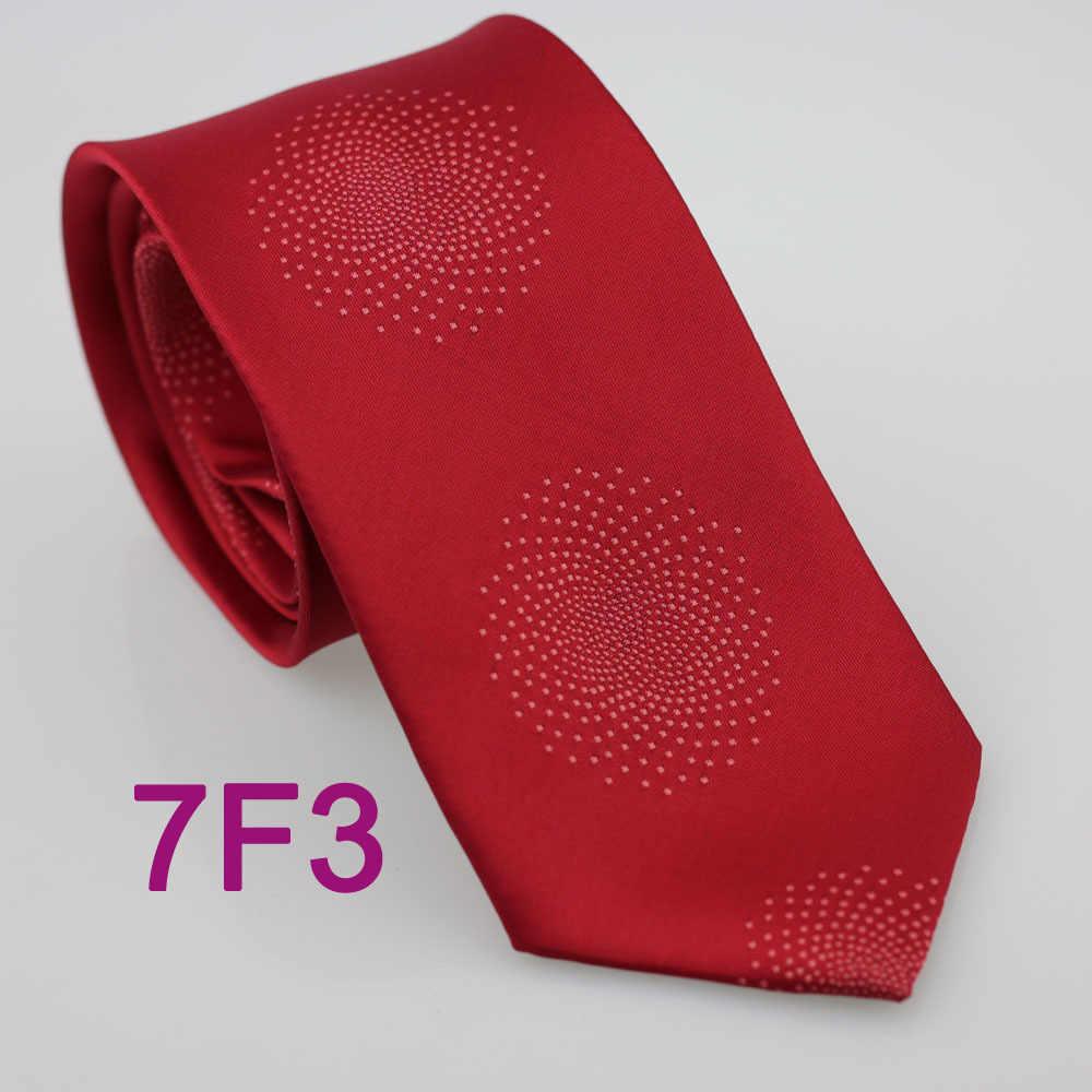 Coachella pria Unik Merah Dengan Bintik-bintik Merah Muda Polka Dots Microfiber Kain Dasi Formal Neck tie untuk kemeja pernikahan