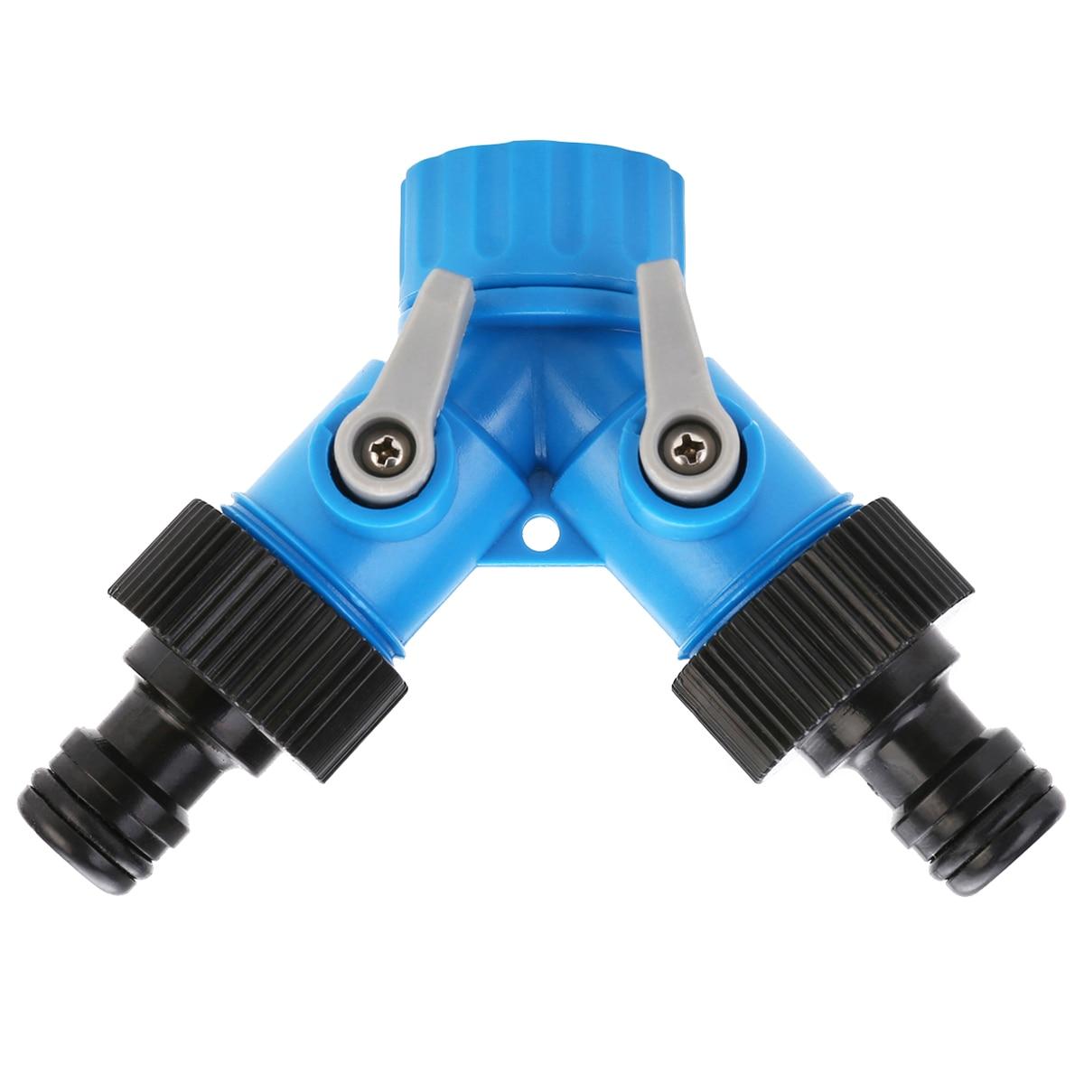 3/4 pulgadas 2 vías manguera del grifo divisor ABS manguera de agua conector rápido con válvula herramienta de riego de jardinería 20/30/40/50/60/70cm longitud 1/2