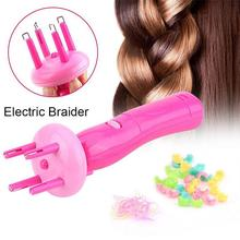 BellyLady Portable Electric Automatic DIY Hairstyle Tool Braid Machine Hair Weave Roller Twist Braider Device Kit