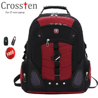 Crossten Versatile Swiss Military Army Travel Bags Laptop Backpack 15 6 17 Multifunctional High Volume Waterproof