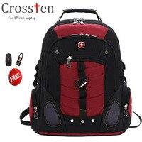 Crossten Versatile Swiss Military Army Travel Bags Laptop Backpack 15 6 17 Multifunctional High Volume Waterproof