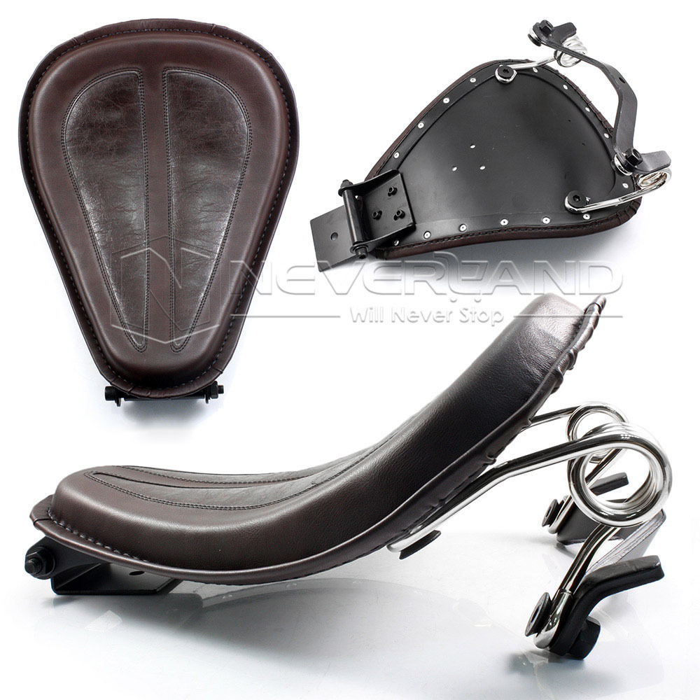 PU Leather Solo Motor Seat Spring Mounting Bracket for Harley Sprorter XL 883 1200 48 2004 2014 D10