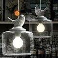 Vintage Lamp Glass Shade Bird Pendant Lights/Droplight Pendant Lamps With E27 Lights For Living Room/Bedroom/Living Room(DA-50)