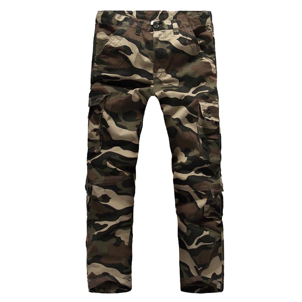 Camouflage Cargo Tactiques Pantalon Hommes Occasionnels Multi Poches Baggy Pantalon Militaire Style Pantalon Pantalones Salopette