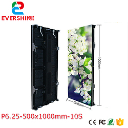 P6.25 Indoor Full Color LED Advertising Screens Rental Aluminum Die-casting LED Display Cabinet 500*1000mm