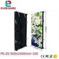 Precio P6.25 pantallas de publicidad LED a todo Color para interiores Alquiler de gabinete de exhibición LED de fundición a presión de aluminio 500*1000mm