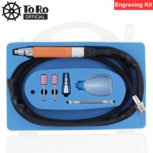 TORO TR-4302 5 Inch Pneumatic Engraving Pen Pencil Type Air Micro Grinder 58000rpm Tool Ket for Polishing / Carving / Repair