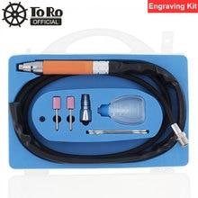 TORO TR-4302 5 Inch Pneumatic Engraving Pen Pencil Type Air Micro Grinder 58000rpm Tool Ket for Polishing / Carving / Repair