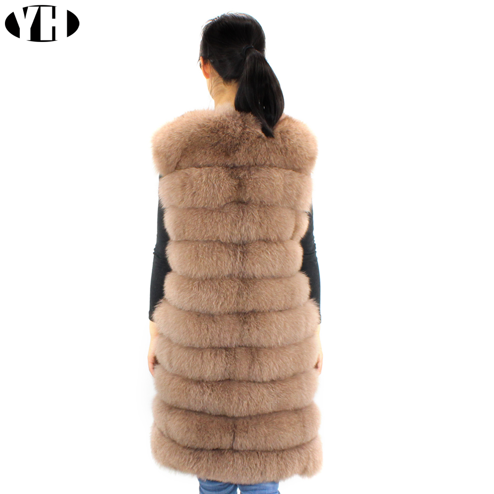 Pleine Gilet Renard Rea Pelt Femmes Hiver Naturel 100 Long Vêtements Grey Fourrure De Fox black Femme Manteau khaki I7nXw55Sxq
