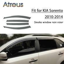 Window-Visor Car-Wind-Deflector Kia Sorento Rain Smoke ABS Atreus for 1set