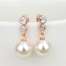 PISSENLIT New Fashion Grace Rhinestone Drop Earrings Trendy Gold Wedding Women Accessories Charming Jewelry Pearl